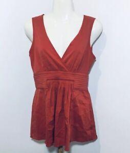 BCBG-Maxazria-Women-039-s-Sleeveless-Top-Size-XS-Extra-Small-V-neck