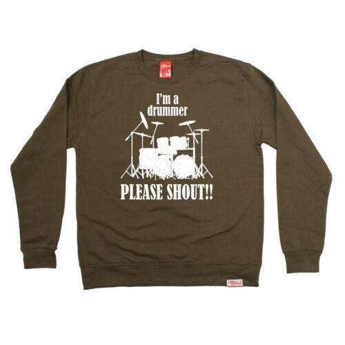 Im un batteur veuillez Shout Sweat Band Drums Tambour drôle cadeau d/'anniversaire