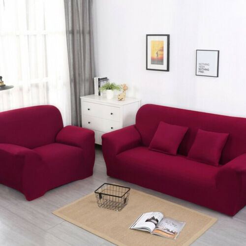 1//2//3//4Seater Elastic Sofa Covers Slipcover Print Stretch Settee Couch Protector