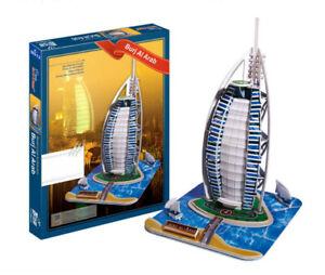 Burj-Al-Arab-3D-Puzzle-Rompecabezas-Modelo-Dubai-Emiratos-Arabes-Unidos-Emiratos-Hotel