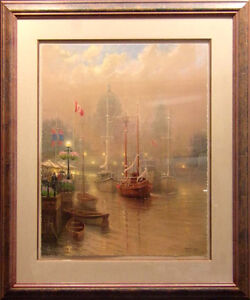 G harvey harbor fog hand signed with custom framed for Harvey windows price list