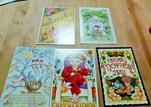VTG-Lot-of-5-Mary-Engelbreit-2-Easter-amp-3-Mother-039-s-Day-Greeting-Cards-5x7-034