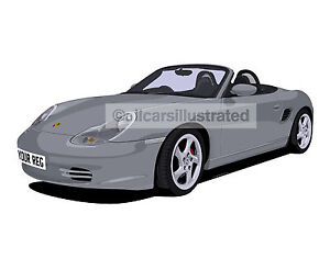 Porsche Boxster Car Art Print Picture Size A3 Personalise It Ebay