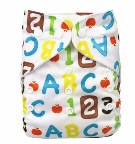Baby Cloth Diapers OneSize Reusable Pocket Nappy For baby Newborn 1 Insert new