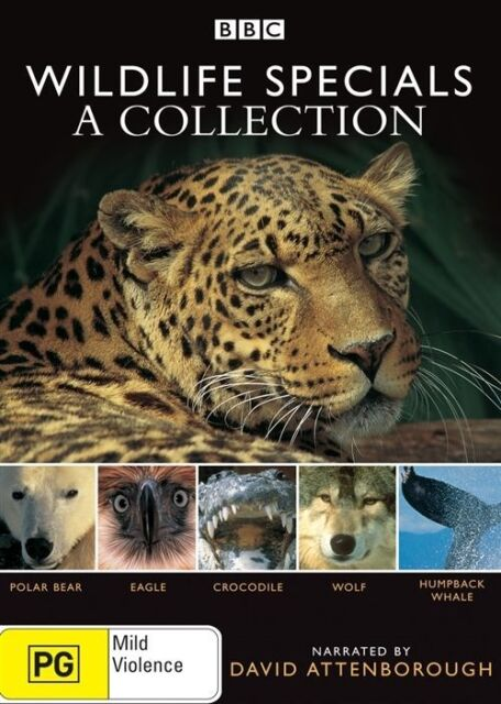 DavidAttenborough- WildlifeSpecials : A Collection (2 DVD Set) Like New!