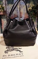 NWT 100% Authentic BURBERRY Maidstone Brit Leather Canvas MED Tote Bag $1295