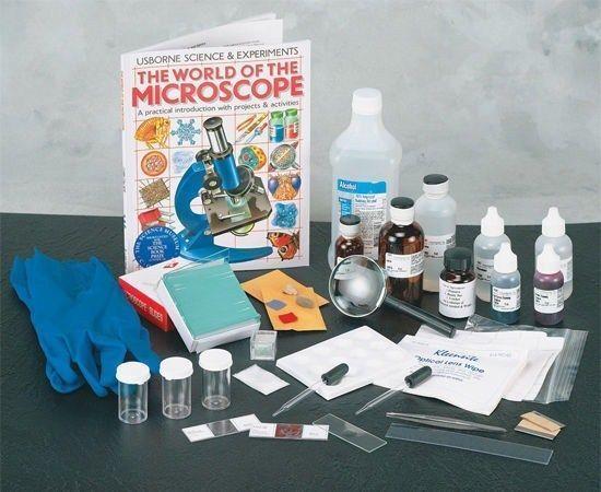 Fortgeschrittene rutsche die kit ermöglicht studenten bereiten sich auf die mikroskop -