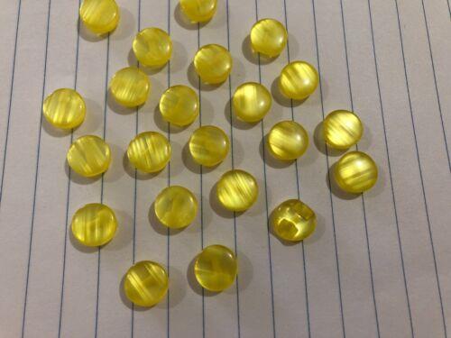 10pc Yellow Self Shank Buttons 10mm D381 AUSSIE SELLER