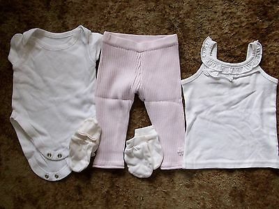 Other Newborn-5t Girls Clothes Next Pink Rib Leggings George White Ss Vest 0-3mths Matalan Vest **gc** Clear And Distinctive