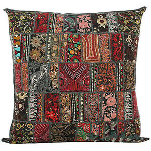 20x20 Large Decorative Vintage Throw Pillow Embroidered