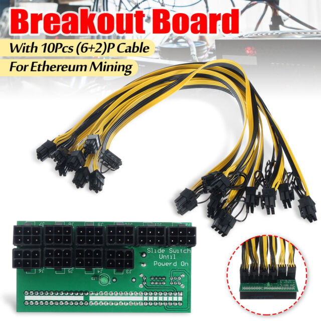 1600W Breakout Board Adapter Power Supply for HP DPS-1200FB GPU Server 6Pin