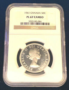 1961-Canada-Fifty-Cents-NGC-PL67-Cameo-Only-6-Graded-Higher-Registry-Grade