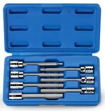 SK Hand Tools 19728 7-Piece 3//8-Inch Drive Fractional Long Hex Bit Socket Set