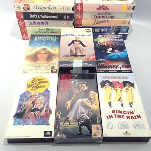 LOT 16 Musicals VHS Movie XANADU West Side Story SOUND OF MUSIC Singing Rain MGM