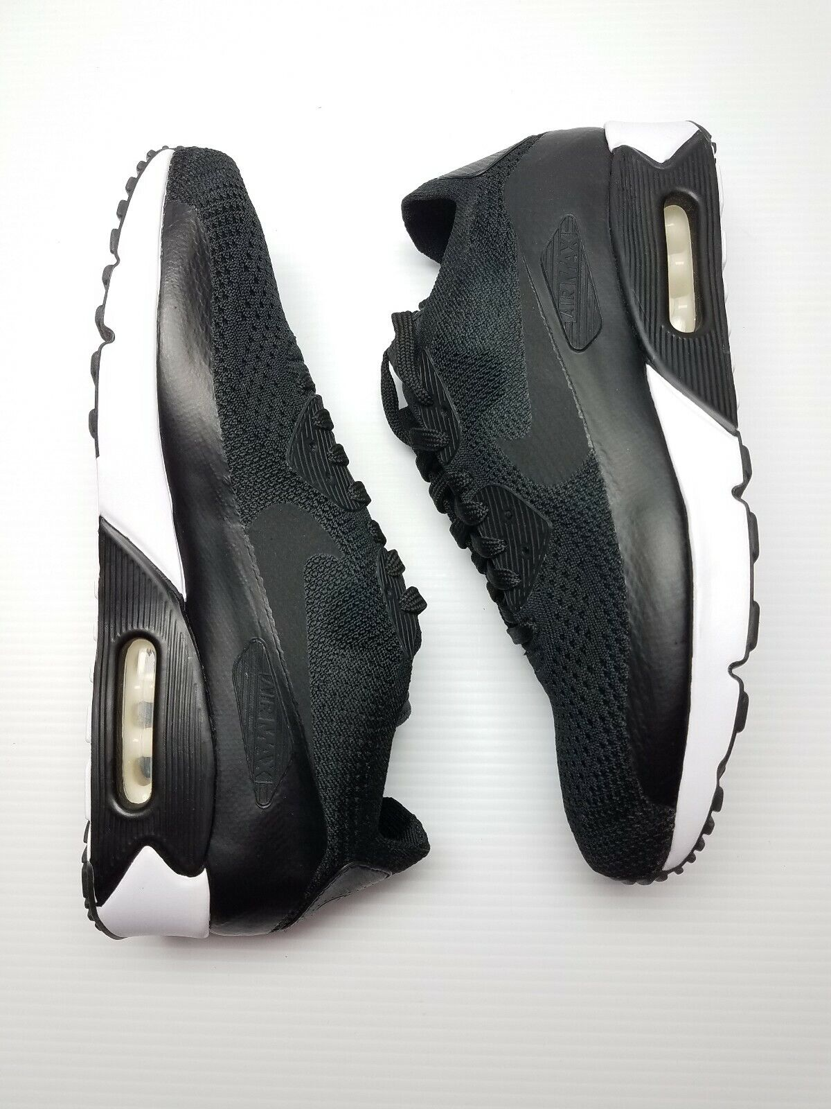 Nike Air Max 90 Ultra 2.0 Flyknit 875943-004 Black White Mens Size 11.5 New