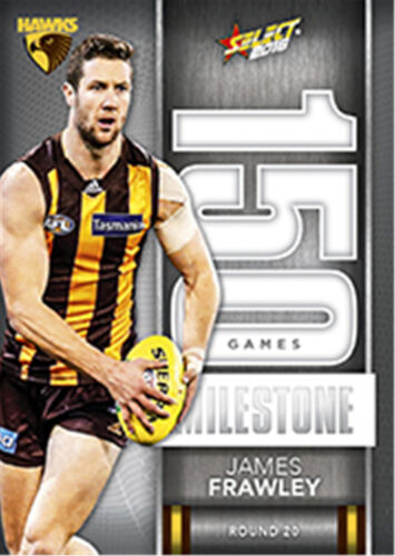 2016 AFL Footy Stars Trading Cards Milestones Subset MG43 James FrawleyHawks