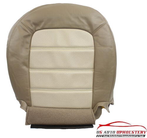 05 Ford Explorer Eddie Bauer PERFORATED Driver Bottom Leather Seat Cover 2 Tone