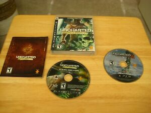 Uncharted-Drake-039-s-Fortune-Sony-PlayStation-3-amp-Uncharted-2-Among-Thieves-disc