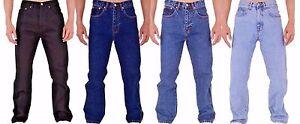 New-Men-039-s-Tough-Regular-Fit-Basic-Work-5-Pocket-Western-Jeans-All-Waist-Sizes