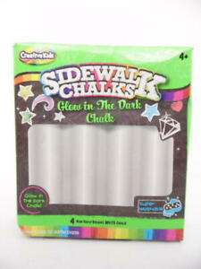 Creative Kids Sidewalk Chalks Washable Glow in the Dark Chalk - 4pc