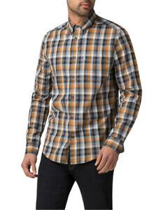 NEW Ben Sherman Distorted House Gingham Shirt Mustard