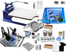 1 Color 1 Station Adjustable Pallet Screen Printing Press Materials Kit Printer