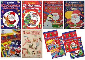 NUOVO-A3-A4-LIBRO-da-Colorare-Natale-Vigilia-di-Natale-ideale-di-Calza-Filler-Bambini
