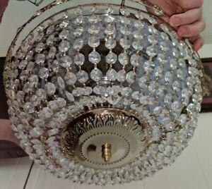 Gorgeous-13-1-2-Swarovski-Crystal-Basket-3-Light-Flush-Mount-Chandelier