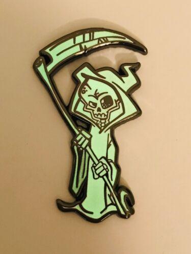 LE Pin Death Reaper Horror Pin Hard Enamel Pin Grim Reaper GITD Hat Pin