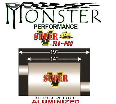 """V42043 FLO`PRO 2.00/"""" Offset X 2.00/"""" Offset Super V 2 Chamber Street Muffler"""