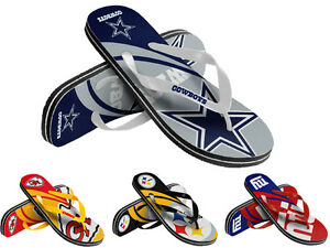 NFL-Football-Unisex-Big-Logo-Flip-Flops-Pick-Team