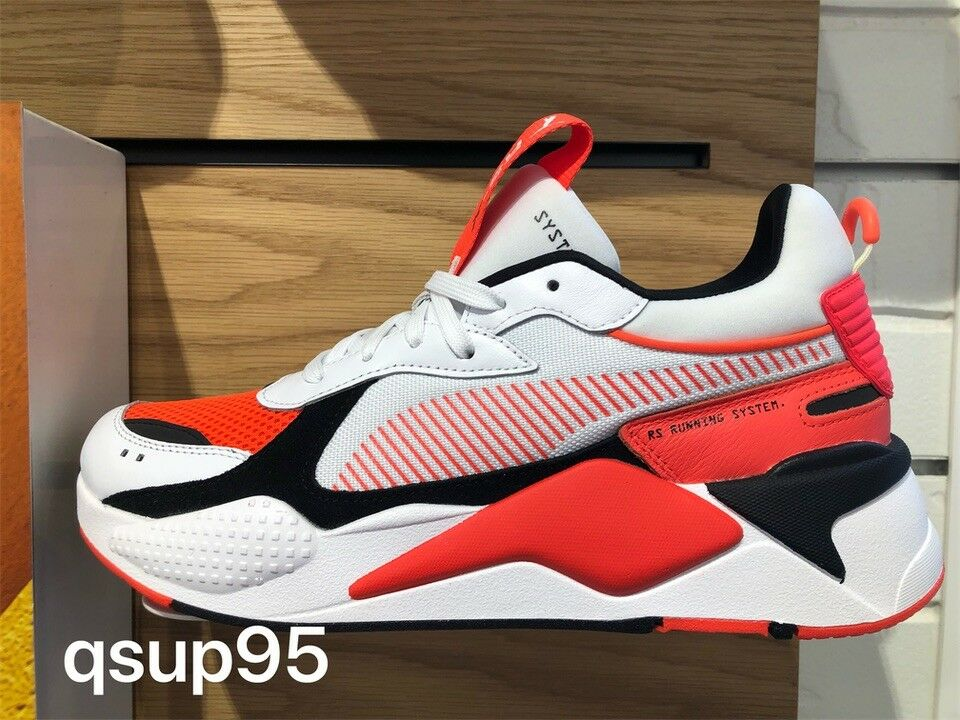 Puma RS-X Toys Reinvention Running System White Red Blast Size 8-13 369579_02