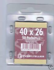 1 Blister 50 Pochettes fond noir simple soudure 40x26