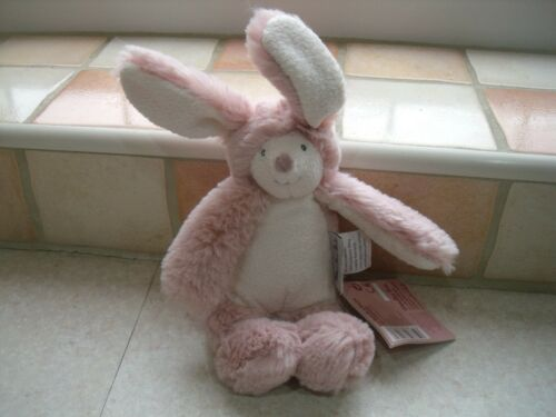 MOULIN ROTY SOFT RABBIT RATTLE PINK LA BANDE A BASILE RANGE