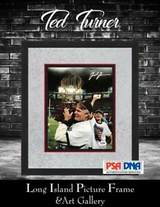 Ted Turner Signed 8x10 Photo Newly Custom Framed FREE SHIPPING PSA DNA COA