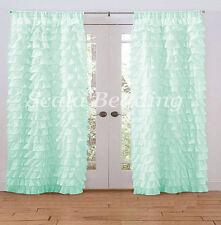 800 TC Multi Ruffle Curtains 2-Panel Top Rod Pocket Choose Color & Size