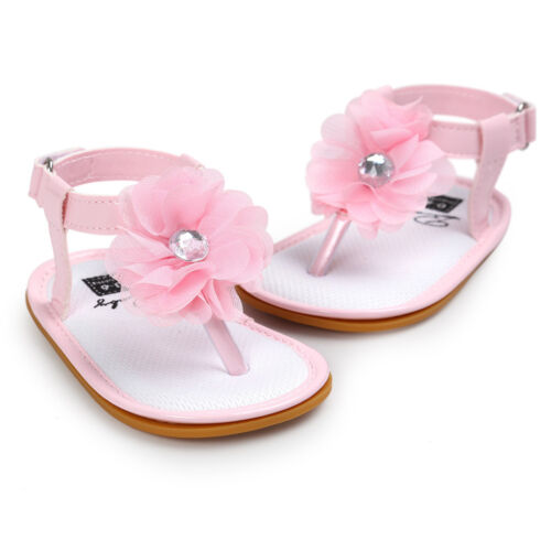 Fashion Baby Kids Girl Sandals Toddler Anti-Slip Crib Shoes Soft Sole Prewalker