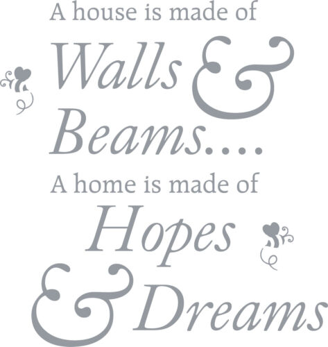 Mural A Home Is Made Of Hopes Dreams Lounge Vinyl Wall Art Sticker Decal