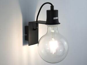 Lampada parete applique moderno minimal nero sala da pranzo cucina