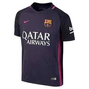 New Nike 2016 17 FC Barcelona Junior Kids Away Football Kit Shirt ... e309f27f6