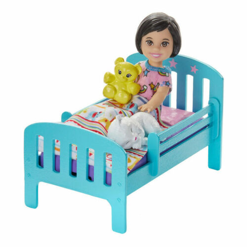 Doll and Bed Playset Barbie Skipper Babysitters Inc