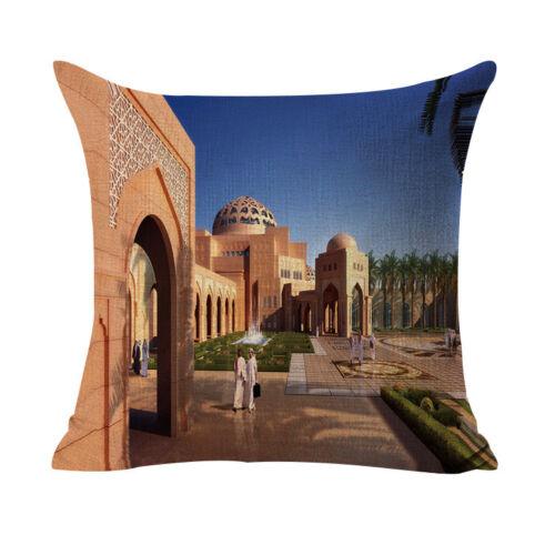"18/"" Alley ville Pattern Cotton Linen Throw Pillow Case Cushion Cover Home Decor"