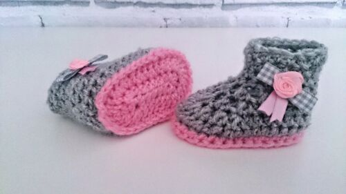 BABY baby CROCHET HANDMADE SHOES BOOTS BOOTIES KNITTING FIRST SHOES