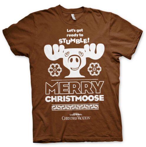 Officially Licensed Merry Christmoose Men/'s T-Shirt S-XXL Sizes
