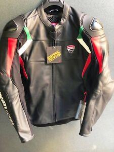 Giubbino-in-pelle-Ducati-Corse-18-C3-NERO-Leather-Jacket-Ducati-Corse
