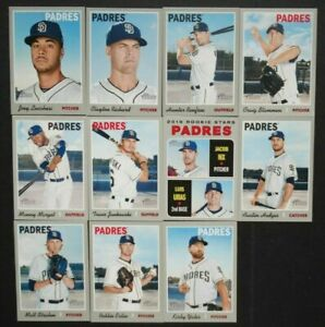 Details About 2019 Topps Heritage San Diego Padres Base Team Set 11 Baseball Cards Luis Urias