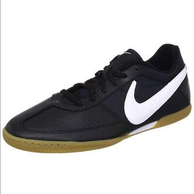 Electropositivo Pantalones Terrible  NIKE Davinho Men's Indoor Soccer Shoes 580452-010 Black/White | eBay