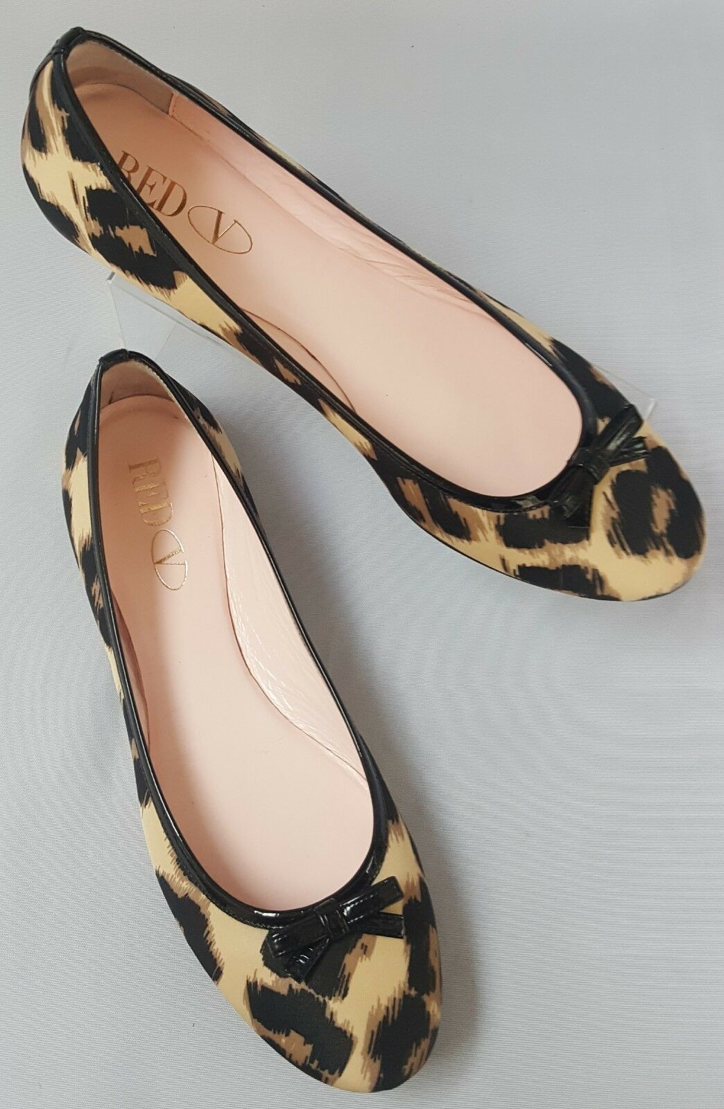 Authentic Red Valentino Leopard Print Ballerina Style Flats Made in  Size 3