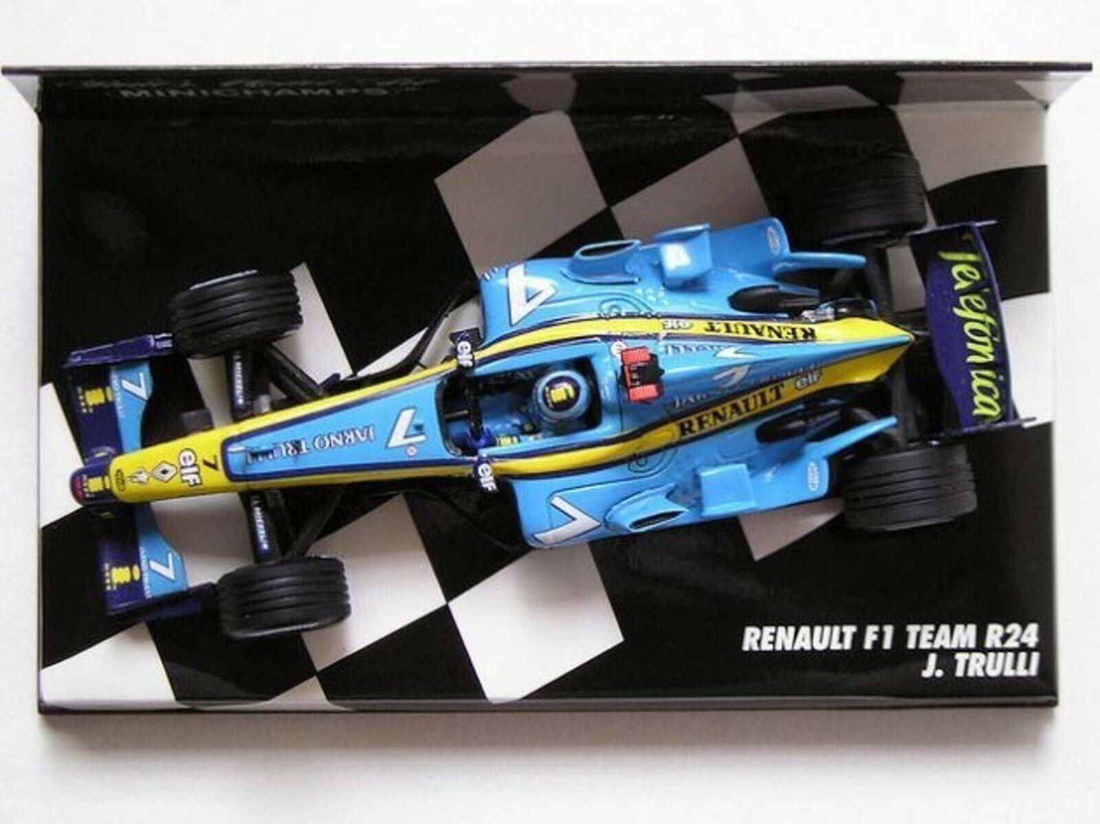 Wow extrêmement rare RENAULT R24 J Trulli Original GP France 2004 1 43 Minichamps