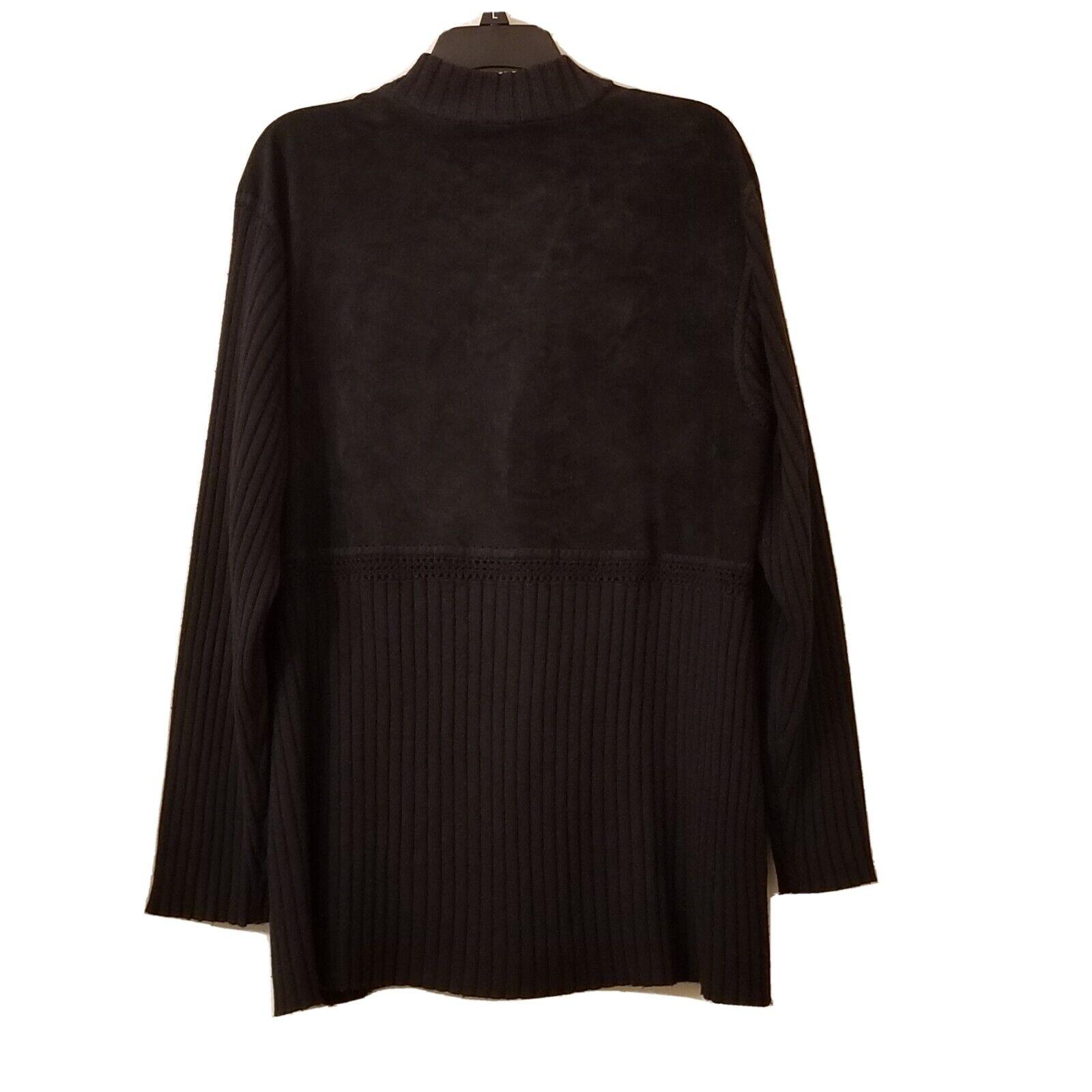J Jill Cardigan  Wool/suede Leather Blend Woven L… - image 6